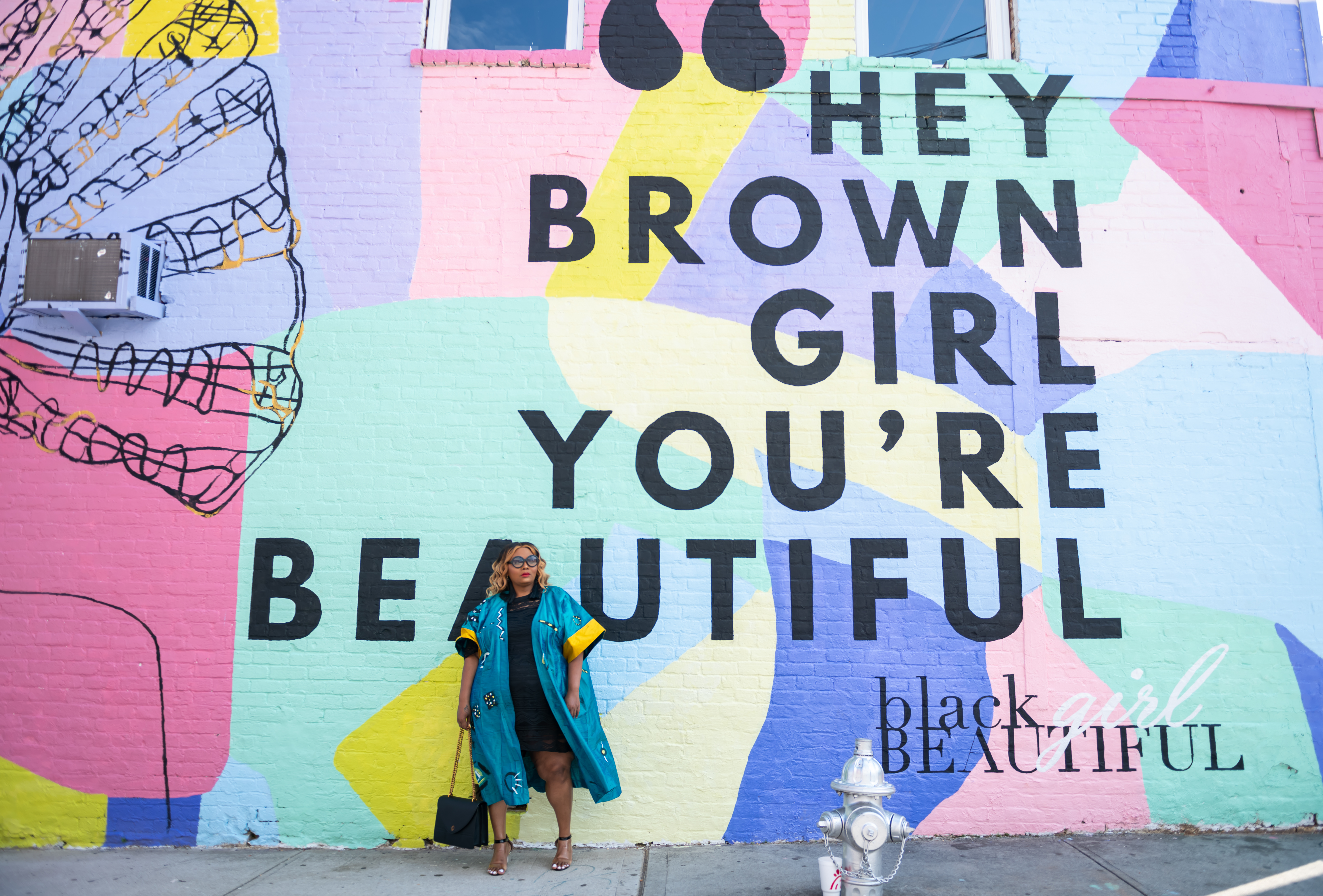 Maui B of PHAT Girl Fresh at the Beautiful Brown Girls Mural