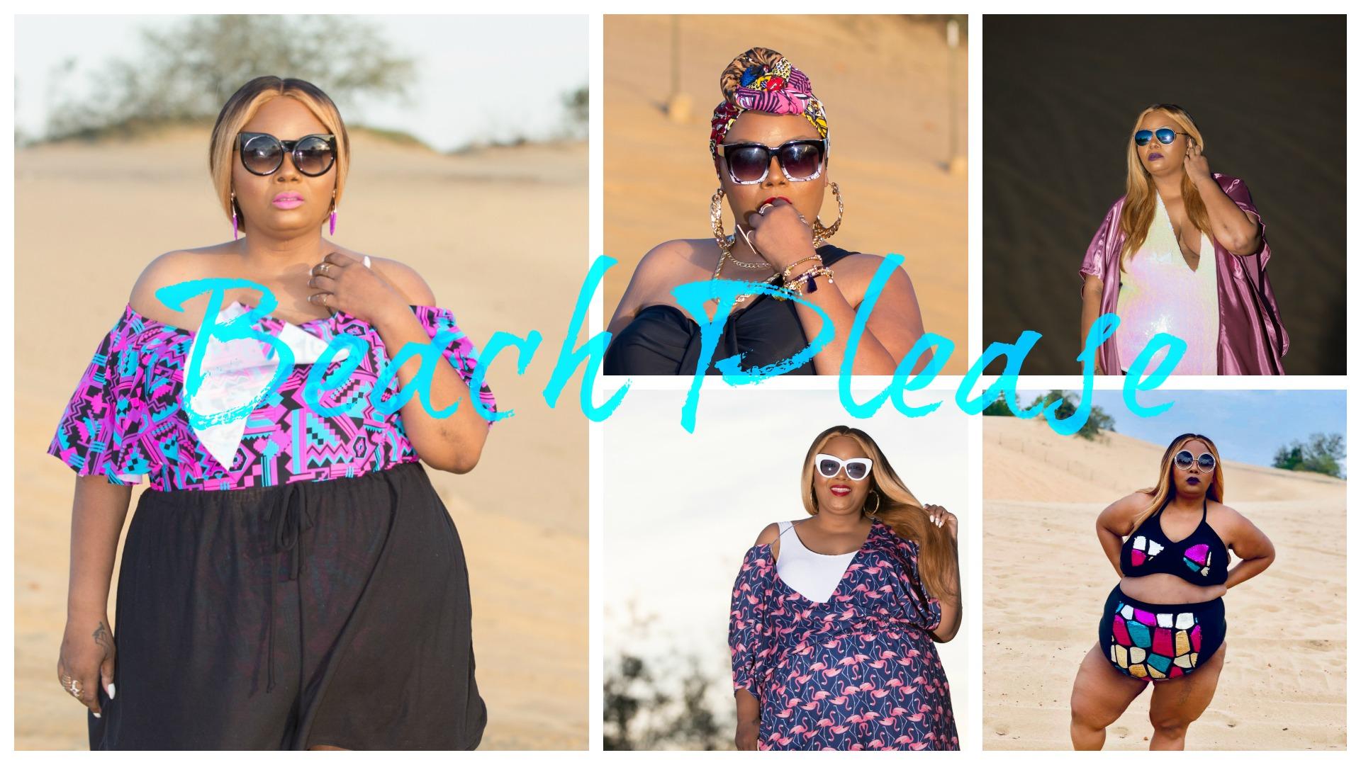 Beach Please collage by PHAT Girl Fresh